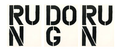 Christopher Wool, 'RUN DOG RUN (set of 3)', 1989