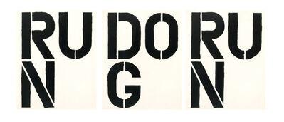 Christopher Wool, 'RUN DOG RUN (set of 3)', 1989