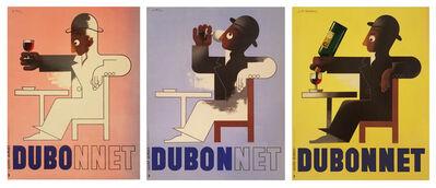 A.M. Cassandre, 'DUBO DUBON DUBONNET - QUINQUINA -SOLD AS A SET OF THREE', 1932