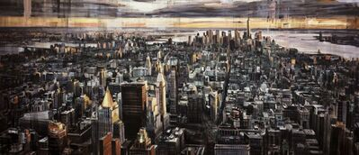 """Valerio D'Ospina, '""""Looking Downtown at Sunset""""', 2018"""