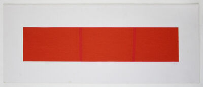 Vera Molnar, 'Partition of a Surface Orange by 2 Lignes Droite Rouge', 1960