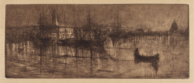 Otto Henry Bacher, 'A Wet Evening in Venice', ca. 1880