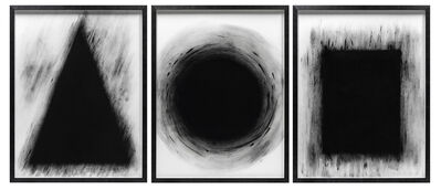 David Nash, 'Triangle Sphere Cube', 2015