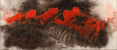 Beiren Hou, 'Gorge in Autumn', 2002