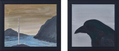 Wanda Koop, 'Two Works: i) Striped Pole; ii) Raven's Head', 1982