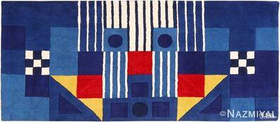George Earl Ortman, 'Blue Vintage Art Rug', ca. 1970
