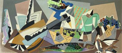 Gino Severini, 'Natura morta con pesce', 1954