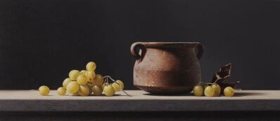 Rafael de la Rica, 'Pottery and grapes', ca. 2020