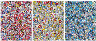 Takashi Murakami, 'Skulls & Flowers Tryptych', ca. 2020