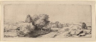 Rembrandt van Rijn, 'Landscape with a Milkman', ca. 1650
