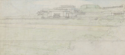 Frank Lloyd Wright, 'Elevation View; Barnsdall Theater. Olive Hill, Los Angeles, CA (Drawing by Rudolph Schindler, while working in the office of Frank Llyod Wright, Chicago, IL and Los Angels, CA)', 1917-1920