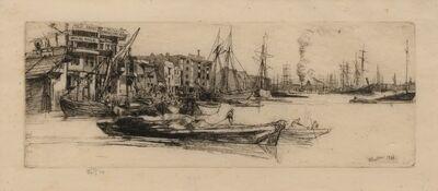 James Abbott McNeill Whistler, 'Thames Warehouses', 1859