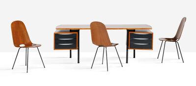 Franco Campo, 'Desk, 3 chairs', circa 1955