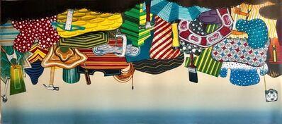 """Tom Burckhardt, 'Color Lithograph Linocut Chine Collé """"Workshop"""" Bright Modernist Pop Art', 2000-2009"""