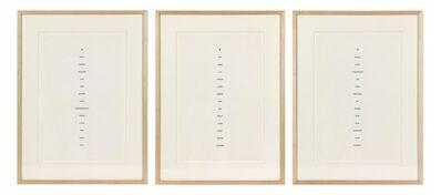 Robert Barry, 'Triptych', 1975
