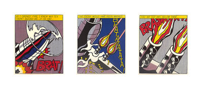 Roy Lichtenstein, 'As I Opened Fire Triptych', 2000