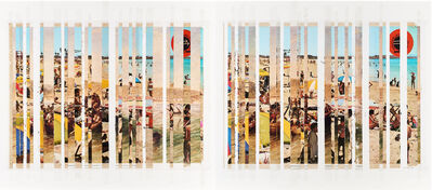 Mikhael Subotzky, 'Sticky-tape Transfer 31 - Port Elizabeth Beach 1820 or 1970 (After Baines or Photographer Unknown)', 2017