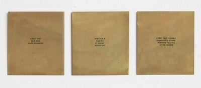 Luis Camnitzer, 'Text Piece', 2009