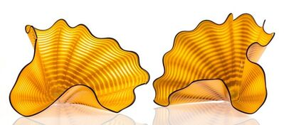 Dale Chihuly, 'Radiant Yellow Persian Pair with Purple Lip Wraps', circa 1995