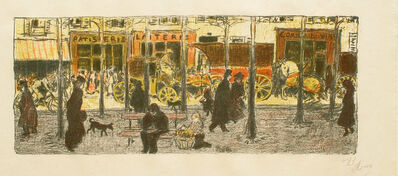 Pierre Bonnard, 'Some Aspects of life in Paris, 6: Boulevard (Quelques Aspects De La Vie Parisienne: Boulevard)', ca. 1898