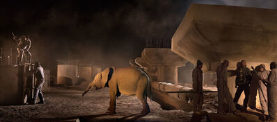 Nick Brandt, 'Bridge Construction with Terrified Elephant', 2018