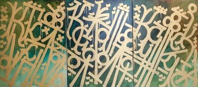 RETNA, 'Untitled Gold - Triptych', 2018