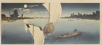 Hiroaki Takahashi (Shotei), 'Edo River', ca. 1923