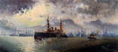 """Manuel Larravide, '""""Batalla de Toulon""""', 1903"""