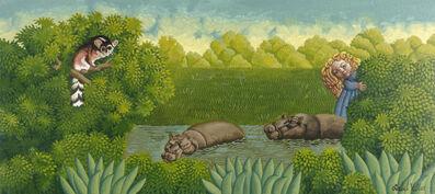 Isabel Villar, 'Niña con dos hipopótamos', 2020