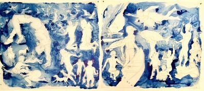 Mark Adams, 'Blue Figures', 2019