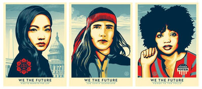 Shepard Fairey, 'We the Future set of 3 SIGNED offset lithographs', 2018
