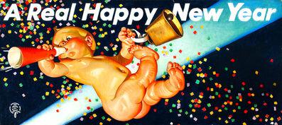 Joseph Christian Leyendecker, 'A Real Happy New Year, Amoco Advertisement', 1946