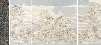 Wang Tiande 王天德, 'Seeking Slope among Rivers and Mountains 溪山尋坡圖 (Quadtych)', 2020