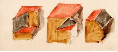 Sol LeWitt, 'Study For Irregular Cubes', 1983
