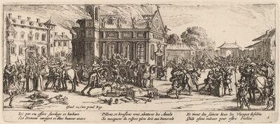 Gerrit van Schagen after Jacques Callot, 'Destruction of a Convent'