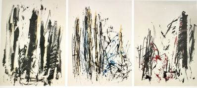 Joan Mitchell, 'Arbres (Yellow, Blue, Red) (triptych)', 1991