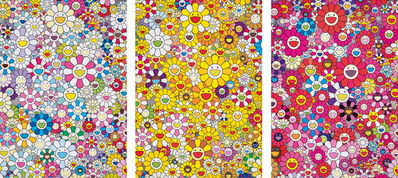 Takashi Murakami, 'An Homage to Yves Klein, Multicolor C; An Homage to Monogold 1960 A; and An Homage to Monopink 1960 C', 2012