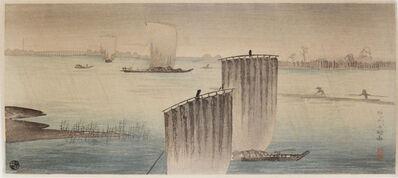 Hiroaki Takahashi (Shotei), 'Arakawa in Early Winter Rain', ca. 1923