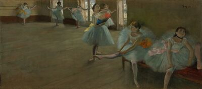 Edgar Degas, 'Dancers in the Classroom', ca. 1880
