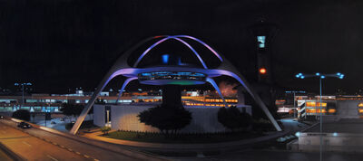 Danny Heller, 'LAX Theme Building Panorama at Night', 2011