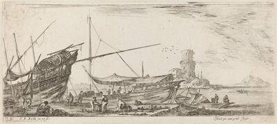 Stefano Della Bella, 'Harbor View', 1644
