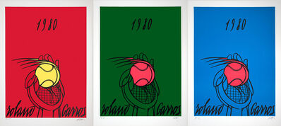 Valerio Adami, 'Roland Garros-Rouge, Vert, Bleu (Red, Green, Blue)', 1980