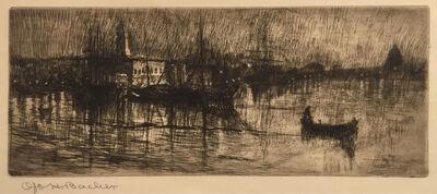 Otto Henry Bacher, 'Rainy Night, Venice', 1880
