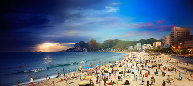 Stephen Wilkes, 'Ipanema Beach, Rio, Brazil, Day to Night', 2017