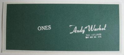 Andy Warhol, 'Artcash (Ones)', 1971