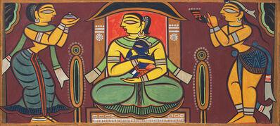 Jamini Roy, 'Untitled (Yashodara and Krishna)', 1960's