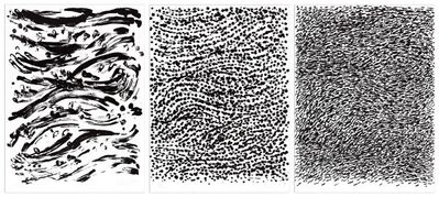 Günther Uecker, 'Strömung (Flow), 3 sheets', 2010