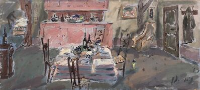 Filippo De Pisis, 'Interno con la tavola'