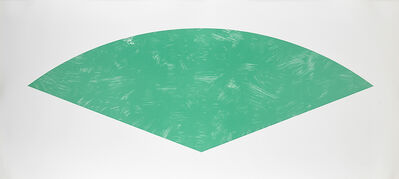 Ellsworth Kelly, 'Green Curve, State 1 from Fans', 1988