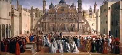 Gentile Bellini, 'St. Mark Preaching in St. Euphemia's Square in Alexandria, Egypt', 1504-1507